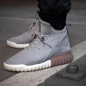 ADIDAS ORIGINALS x Primeknit Tubular sneakers gray